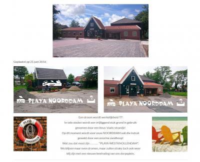 De inwoners van West-Knollendam zijn terecht trots op en blij met hun met veel zelfwerkzaamheid in 1971 gebouwde en in 2003 hérbouwde Dorpshuis De Noorddam. In 2016 leek er een 'stadsstrand' voor het dorpshuis te komen, maar dat bleek nieuwe bestrating...