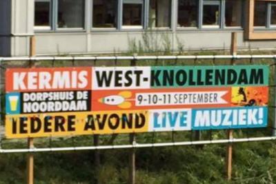 In West-Knollendam houden ze wel van een feestje. Zo staat in het 2e weekend van september het dorp drie dagen lang op zijn kop tijdens de KermisWKD (WKD is de volksmondnaam van het dorp), met tal van evenementen en activiteiten, en elke avond livemuziek.