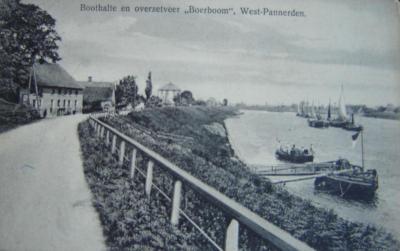 West-Pannerden, boothalte en overzetveer Boerboom, ca. 1910