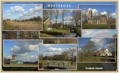 Westbroek, collage van dorpsgezichten (© Jan Dijkstra, Houten)