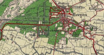 Rond 1925 verzinnen de soms wat al te creatieve kaartenmakers van de Topografische Dienst dat buurtschap Westdorp 'Sluis' moet gaan heten. (© van de drie afgebeelde kaarten: www.kadaster.nl)