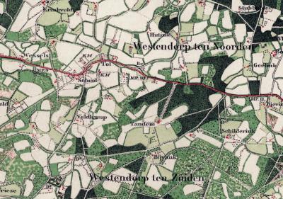 Westendorp komt met die naam al voor in de Volkstelling van 1840. Vreemd genoeg wordt dat in atlassen pas bijna 100 jaar later doorgevoerd; tot ca. 1930 is daar nog sprake van de plaatsnamen Westendorp ten Noorden en Westendorp ten Zuiden.