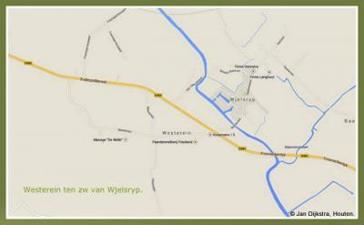 De buurtschap Westerein ligt ZW van en valt onder het dorp Wjelsryp