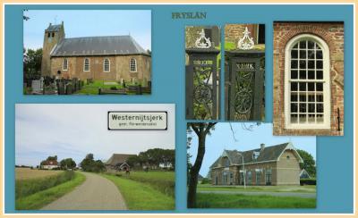 Westernijtsjerk, collage van buurtschapsgezichten (© Jan Dijkstra, Houten)