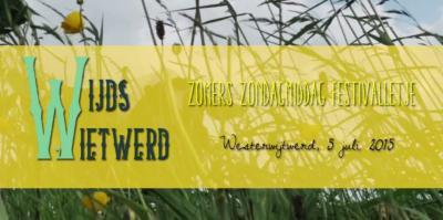 Het bescheiden dorpje Westerwijtwerd heeft ook een bescheiden - maar daarom niet minder het bezoeken waard! - festivalletje, namelijk Wijds Wietwerd, in het eerste weekend van de zomervakantie in de regio.