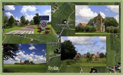 Westhem, collage van dorpsgezichten (© Jan Dijkstra, Houten)