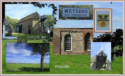 Wetsens, collage van dorpsgezichten (© Jan Dijkstra, Houten)