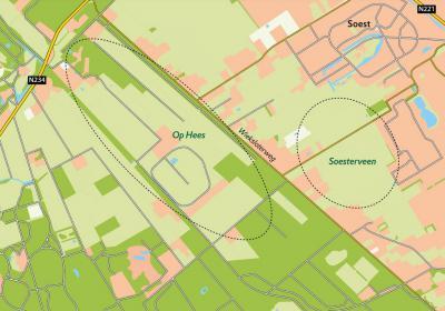 W, resp. O van buurtschap Wieksloot liggen de 'geliefde natuurparels Op Hees en Soesterveen', aldus Natuurmonumenten, die hier volop bezig is met natuurbehoud, -herstel en -ontwikkeling. Zie verder het kopje Landschap. (© www.natuurmonumenten.nl)