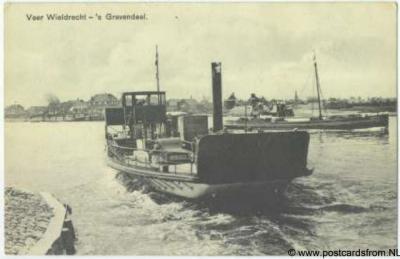 Wieldrecht, veerboot naar 's-Gravendeel, 1931.