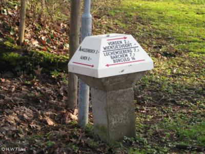 Op een ANWB-paddenstoel in de directe omgeving staat welke kant je op moet om in de buurtschap Wientjesvoort te komen. Handig. Ter plekke staan echter geen plaatsnaambordjes die aangeven dat en wanneer je er bent aangekomen. Dat is minder handig...