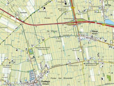 Wierren is een buurtschap in de provincie Fryslân, gemeente Smallingerland. De buurtschap ligt in polder De Wieren en valt, ook voor de postadressen, deels onder het dorp De Tike, deels onder het dorp Nijega. (© www.kadaster.nl)