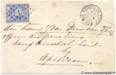 Wiesel, brief van Bergen op Zoom aan een officier van de Grenadiers te kamp Wieselsche Heide, dat officieel kamp Wiesselsche Veld heette.