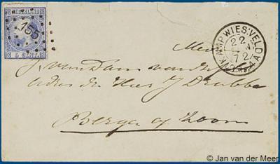 NW van Wiesel was in 1872 korte tijd sprake van een 'Kamp Wiesselsche Veld', met een eigen postkantoor, dat een 'tweeletterstempel' en een puntstempel 155 in gebruik had.
