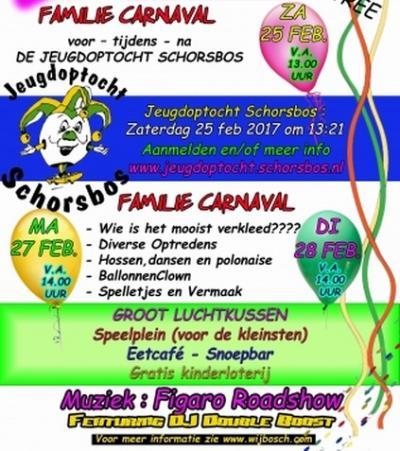 Natuurlijk doen ze ook in Wijbosch aan carnaval. Tijdens carnaval heet het dorp Schorsbos.