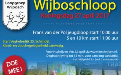 Loopgroep Wijbosch organiseert op Koningsdag de jaarlijkse Wijboschloop. De afstanden zijn 5 en 10 km, met kleinere afstanden voor de jeugd.