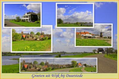 Wijk bij Duurstede, collage van stadsgezichten (© Jan Dijkstra, Houten)