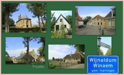 Wijnaldum, collage van dorpsgezichten (© Jan Dijkstra, Houten)