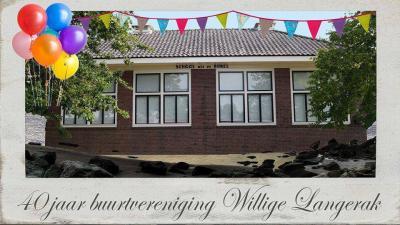 Buurtvereniging Willige Langerak is opgericht in 1976 en heeft in 2016 dus het 40-jarig bestaan gevierd.