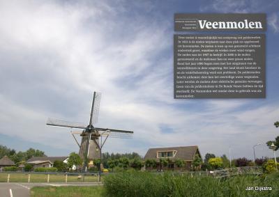 Maar voor we Winlnis verlaten, kijken we eerst nog even bij de mooi gelegen Veenmolen