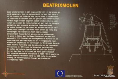 Tekst en uitleg bij de Beatrixmolen in Winssen