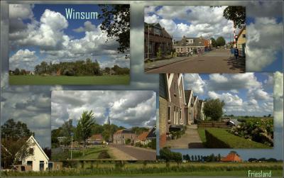 Winsum, collage van dorpsgezichten (© Jan Dijkstra, Houten)