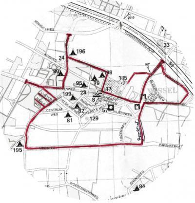 Plattegrond van buurtschap Wissel, gemeente Epe (© Wissels Belang)