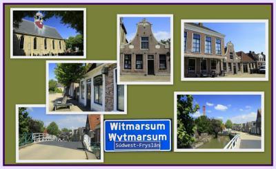 Witmarsum, collage van dorpsgezichten (© Jan Dijkstra, Houten)
