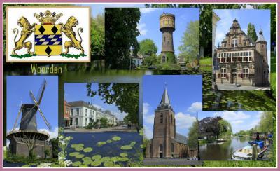 Woerden, collage van stadsgezichten (© Jan Dijkstra, Houten)