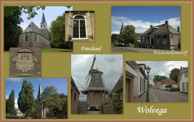 Wolvega, collage van dorpsgezichten (© Jan Dijkstra, Houten)