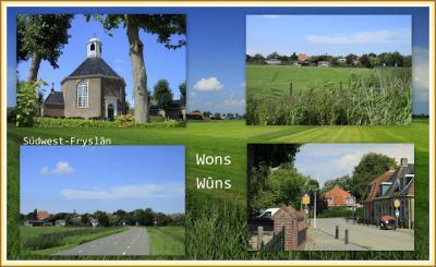 Wons, collage van dorpsgezichten (© Jan Dijkstra, Houten)