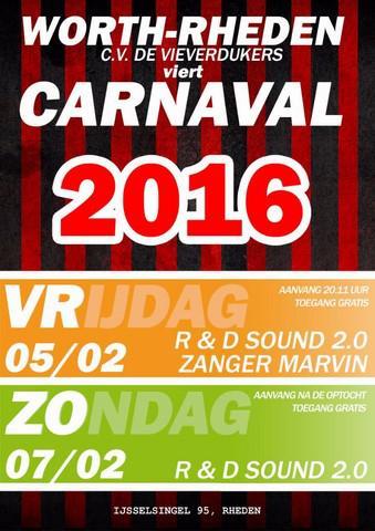 Carnavalsvereniging De Vieverdükers in Worth-Rheden viert ook jaarlijks een eigen feestje, naast de optocht in Rheden.