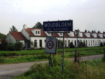 Woudbloem is een dorp in de provincie Groningen, in de streek Duurswold, gemeente Midden-Groningen. T/m 2017 gemeente Slochteren. Achter het plaatsnaambord het beeldbepalende complex van 10 witte huisjes dat bekend staat als de Tienborg.