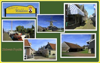 Woudsend, collage van dorpsgezichten (© Jan Dijkstra, Houten)