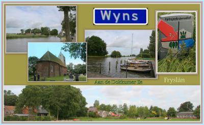 Wyns, collage van dorpsgezichten (© Jan Dijkstra, Houten)