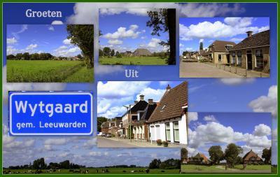 Wytgaard, collage van dorpsgezichten (© Jan Dijkstra, Houten)