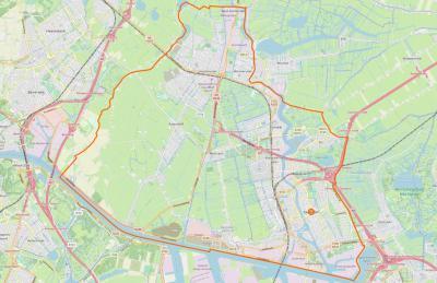 De gemeente Zaanstad is in 1974 ontstaan uit samenvoeging van de gemeenten Assendelft, Koog aan de Zaan, Krommenie, Westzaan, Wormerveer, Zaandam en Zaandijk. De ligging van al die kernen is op deze kaart goed te zien. (© www.openstreetmap.org)
