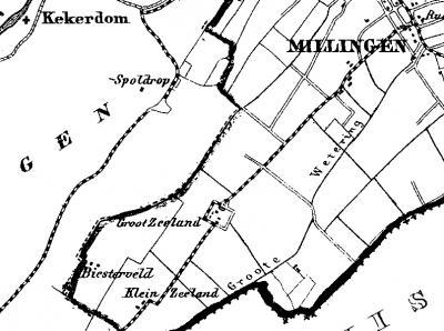 In 1840 had de buurtschap Zeeland  nog maar drie huizen, weliswaar met 26 inwoners, omdat de gezinnen toen een stuk groter waren dan tegenwoordig. Op deze kaart, uit 1867, omvat Zeeland nog altijd slechts enkele panden.