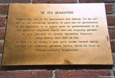Wat waren dan wél de zes gehuchten waar de gemeente Zesgehuchten naar genoemd was? Nou, deze dus...