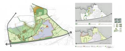 D.m.v. de in 2011 opgestelde Gebiedsvisie Zeumeren schetst de gemeente Barneveld een beeld van waar ze met het gebied in de komende jaren heen wil m.b.t. recreatiegebied, woningbouw, herbestemming boerderijen, groene buffer etc. (© bureau LOS Stadomland)