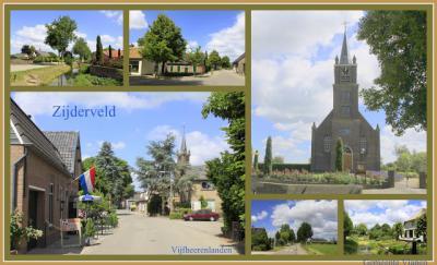 Zijderveld, collage van dorpsgezichten (© Jan Dijkstra, Houten)