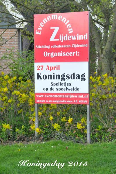 Evenementen Zijdewind organiseert diverse evenementen in Zijdewind door het jaar heen. Een daarvan is Koningsdag.