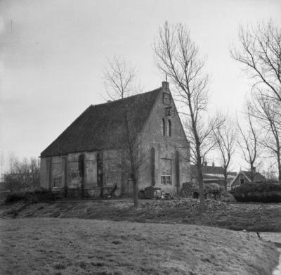 Zijdewind, de Gereformeerde kerk uit 1652, anno 1961. In 1970 is deze kerk gesloopt omdat hij plaats moest maken voor de aanleg van de rotonde.