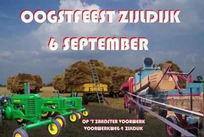 Eén van de jaarlijkse feesten in Zijldijk is het Oogstfeest in september.