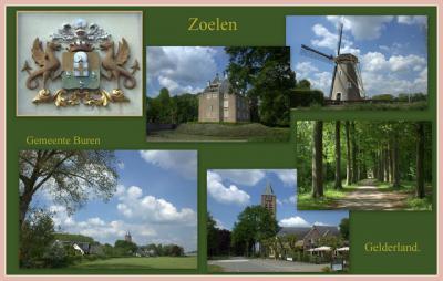 Zoelen, collage van dorpsgezichten (© Jan Dijkstra, Houten)