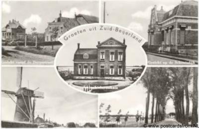Zuid-Beijerland Groeten uit 1958