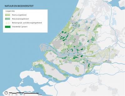 Last but not least komen ook natuur en biodiversiteit aan de orde in de Visie Ruimte en Mobiliteit van de provincie Zuid-Holland, zoals natuurgebieden, recreatiegebieden, weidevogelgebieden en stedelijk groen. (© Provincie Zuid-Holland)