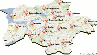 De Regio Zwolle is een bestuurlijk samenwerkingsverband van 20 gemeenten in een wijde straal rond Zwolle, gelegen in 4 provincies (Overijssel, Drenthe, Gelderland en Flevoland). De gemeente Elburg ontbreekt hier want die is pas in 2016 toegetreden.