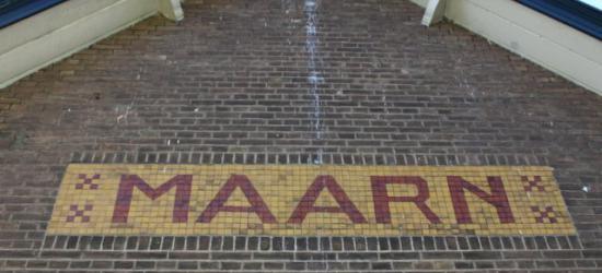 Plaatsnaam Maarn, nog aan het oude station