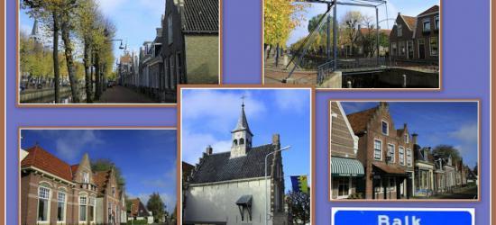 Balk, collage van dorpsgezichten (© Jan Dijkstra, Houten)