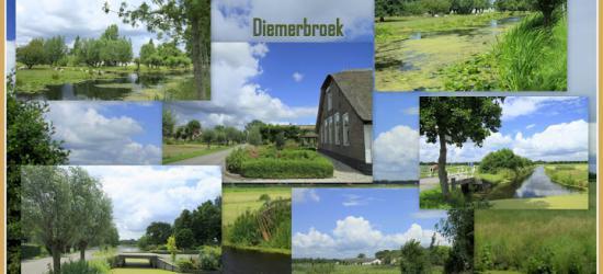 Het vroegere dorpje Diemerbrug is genoemd naar een brug in Diemen, maar Diemerbroek is niet genoemd naar het 'broek' bij Diemen. Het ligt nl. bij het dorpje Papekop in de gem. Oudewater (© Jan Dijkstra, Houten)